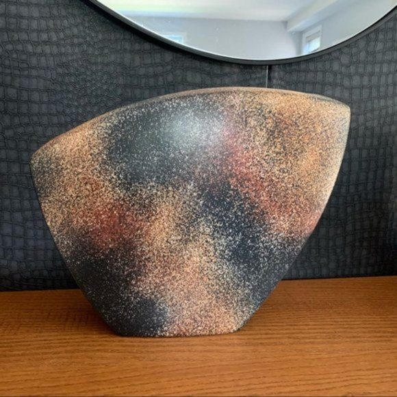 Vintage 90's abstract pattern quirky large vase